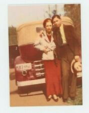 Bonnie and Clyde - METAL trading card - Murder - Color Photo