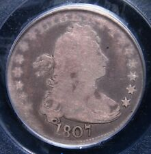 1807 DRAPED BUST QUARTER PCGS GOOD 04 EVEN LIGHT GREY WITH LIGHTER DEVICES