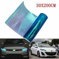 Chameleon 200x30cm Colorful Blue Car Headlight Tail Fog Light Vinyl Tint Film