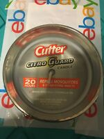 Cutter Citro Guard Candle Metallic Silver, 11 Oz