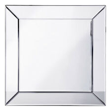 Square 60 x 60 cm Glass Mirror Modern Home Decoration in Silver Litecraft