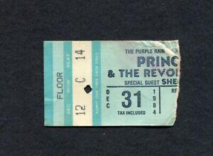 Prince & Sheila E 1984 Concert Ticket Stub Dallas Texas Purple Rain Tour