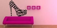 Wall Decal Vinyl Sticker Bedroom fashion shoes zebra girls heels beauty bo3284