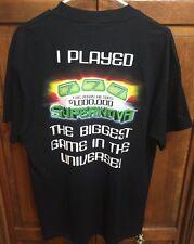 Las Vegas Hilton Resort I Played $1M Supernova Tee T Shirt Gambling Slots Men L