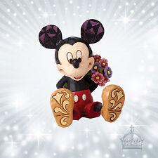 Mickey Mouse Flowers Maus Jim Shore Disney Mini Figur Blumenstrauss  4054284