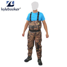 Fly Fishing Chest Waders Breathable Jumpsuits Waterproof Wading Stockingfoot
