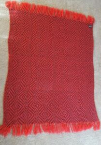 Vintage Emilio Pucci Wool Blend Throw Hand Loomed Diamond Pattern Italy