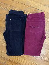 Gap Lot Of 2 Girls Cordiroy Pants Skinny Bootcut Sz 7/8