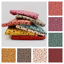 100% COTTON DOUBLE GAUZE Leopard Print - Fabric Muslin Lawn Dressmaking