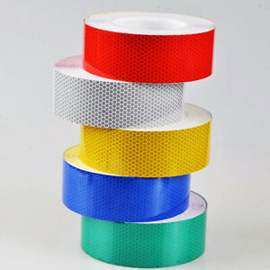 High Intensity Reflective Tape Vinyl Hi Viz Vis Self-Adhesive UK Seller