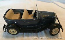 Vintage Hubley Toys Cast Enameled Metal Blue Convertible Sedan 854-5K