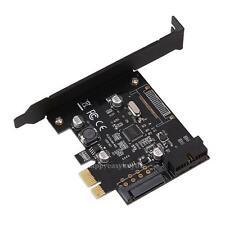 PCI-E Express USB 3.0 19 Pin Connector and 15-Pin SATA Power Adapter Card