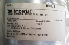 3M DIAMOND LAPPING FILM ROLL 662XW .5MIC 3 MIL 12IN X 5FT FIBER OPTIC POLISHING