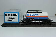 MÄRKLIN 4447  HO - SNCB - KESSELWAGEN  SOLVAY - 2-achs.  BELGIEN  -  NEU in OVP