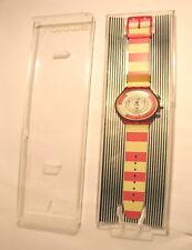 Orologio Swatch SCR100 1990 collezione primavera estate 1991 Chrono Navy Berry