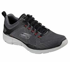 Skechers cortos low ecualizador 3.0 charcoal/negro textil normal caballeros