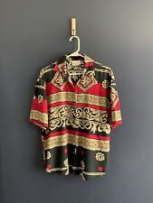 Vintage Kathie Lee tribal Print blouse button up loosefit