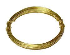 RED BRASS ROUND WIRE 14 GA  6 FT. 1 OZ  SOFT ( Jewelers Brass ), COIL