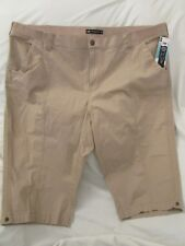 "Ladies ""Lee"" Size 24WM, Doe(Beige) Relaxed Fit, 3/4 Knit/Snap Waist, Skimmer"