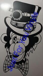 Monkey Steam Punk Style Wine Bottle Vinyl Decal Wall Vinyl