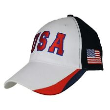 USA Red White Blue US American Flag Patch United States America Baseball Hat Cap