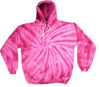 Pink TIE DYE HOODIE Sweater Fashion Tye Die T Shirt Festival Top Rainbow Jumper