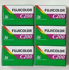 FUJIFILM COLOR  200  36 Aufnahmen   6 Filme  MHD/expiry date  01/2023