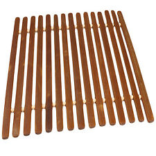 Square Bamboo Trivet Hot Mat for Counter Tops and Tables by bogo Brands (1 pack)