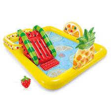 Intex Fun'N Fru 00006000 ity Outdoor Inflatable Kiddie Pool Play Center Slide (Open Box)