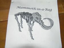Mammoth-in-a-Bag Put-together Wood Skeleton Model – all pieces appear to be pres