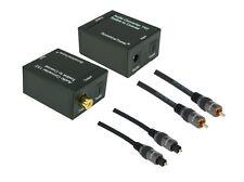 SunshineTronic Optisch-Koaxial Wandler + Toslink + Koaxial-Kabel | HQCR | 0,7m