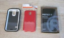Lot Of Samsung Galazy S 5 Cases Folio Case Case With Screen Cover + Red One