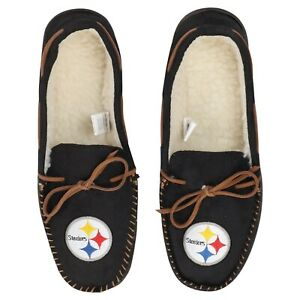 Pittsburgh Steelers NFL Men's Color Moccasin Hard Slippers