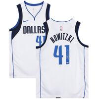 DIRK NOWITZKI Autographed Dallas Mavericks White Nike Swingman Jersey FANATICS