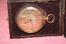Real 14K Gold Joseph Johnson Liverpool Pocket Watch size 16 runs no key
