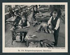 Militär Kriegsversorgungsamt Leipzig Uniform-Schneiderei Singer Nähmaschine 1918