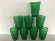 Vintage Anchor Hocking Forest Green Juice Glasses Set of 8