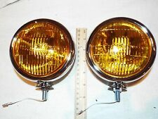 "2, 6 VOLT VINTAGE FOG LIGHTS 5"" , 36 37 38 39 40 46 47 48 49 50 51 52 53 FORD"