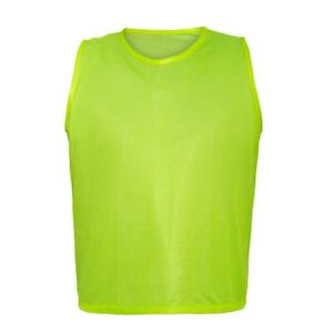 12 YELLOW SCRIMMAGE VESTS SOCCER, FOOTBALL BASKETBALL CHILD YOUTH ADULT PINNIES