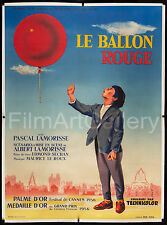 RED BALLOON/BALLON ROUGE 1956 original linen-backed French poster FilmArtGallery