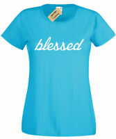 Blessed Graphic tee Greatful Religious christian tee T Shirt top