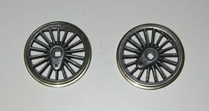 2 Romford 20 mm Insulated Loco Wheels small flange good clean condition