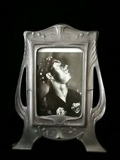 SUPERB ART NOUVEAU ,JUGENDSTIL,  PEWTER PHOTO FRAME MARKED KAYSERZINN