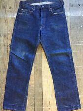 """VTG 1970's 505 0217 Indigo Grain Levi's Talon Zip #8 Single Stitch USA 35"""" x 31"""""""