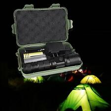 Powerful XML T6 LED Zoom Flashlight Rechargeable + Charger + 1* 18650 Battery FT