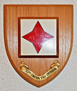 70th Infantry Division regimental wall plaque shield 70 Tobruk