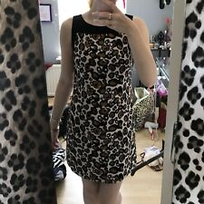 OASIS LEOPARD PRINT SHIFT DRESS SIZE 8, WORN ONCE.
