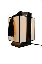 White Edo Lacquerware Table Lamp Japanese Oriental Design