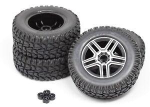 TRX-4 Mercedes-Benz - TIRES & Wheels (Assembled glued 2.6 chrome Traxxas 82096-4