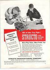 1961 PAPER AD Structo Toy Truck Shovel Bulldozer American Flyer HO Train Track